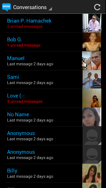 Android App - Messages Screen