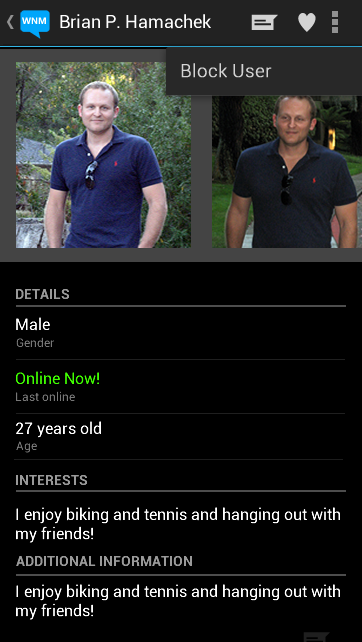 Android App - View Profile